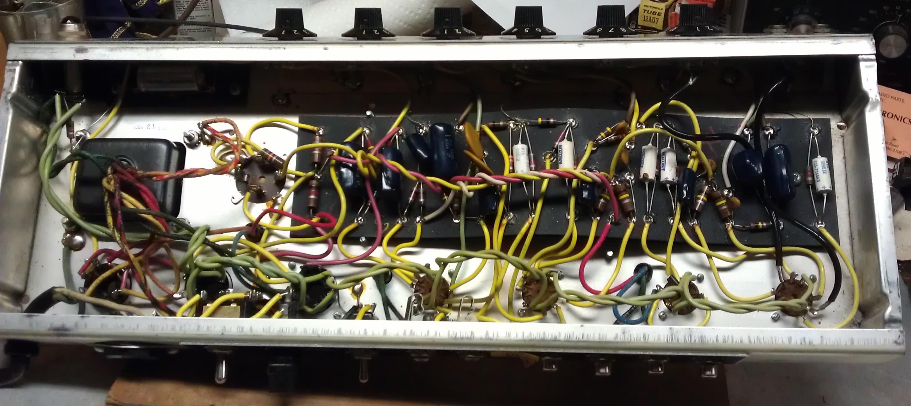 k   l tube works 1973 fender princeton reverb project fender tube amp wiring diagram R25 Wiring-Diagram Fender Amp