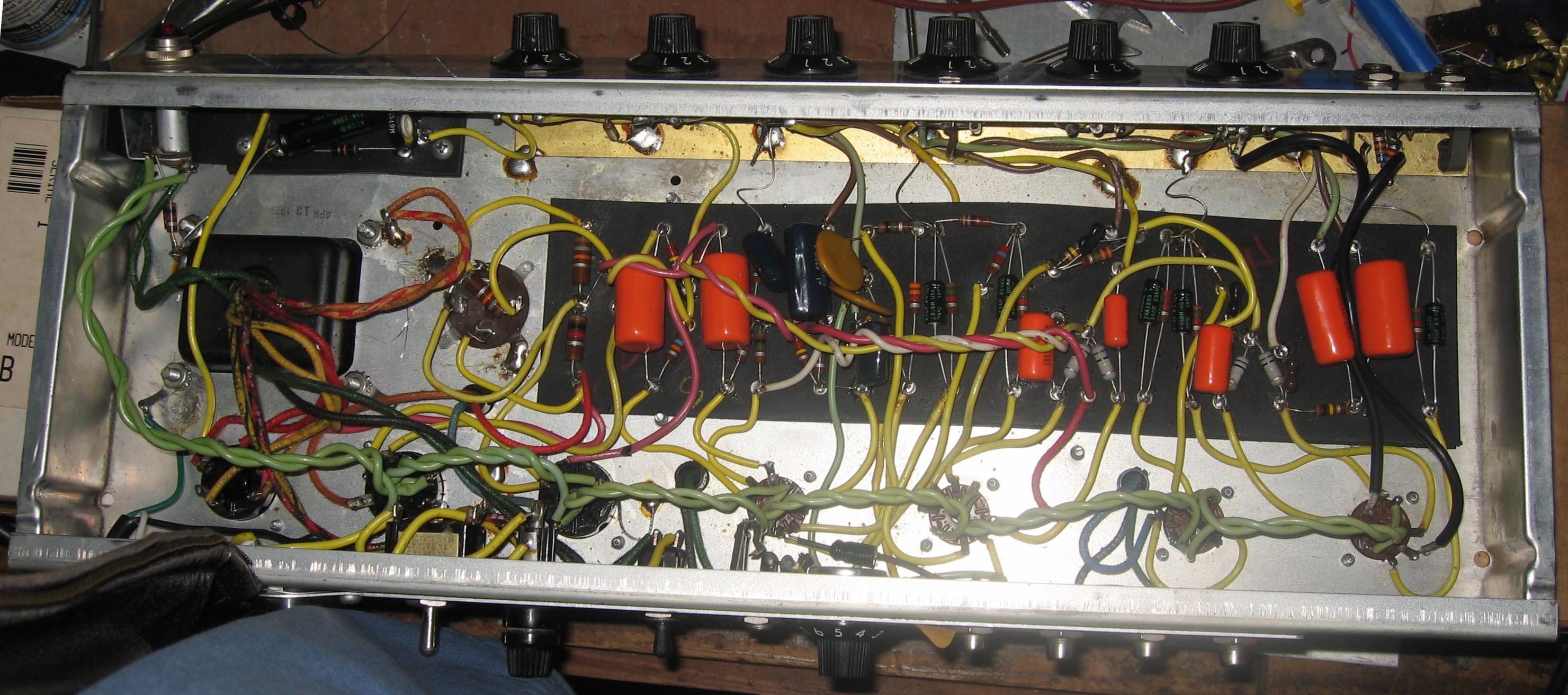 k  u0026 l tube works   1973 fender princeton reverb project