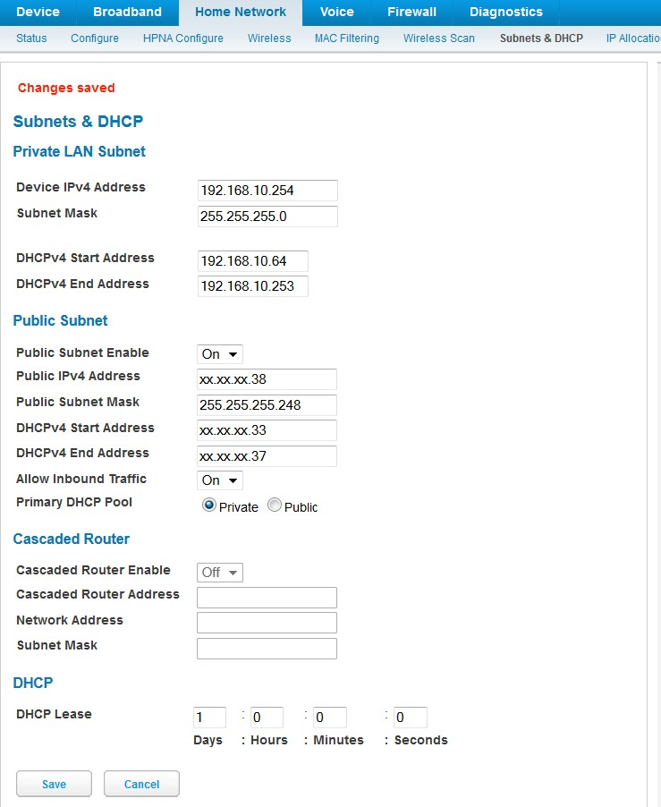 How to set up your att static ip account with the nvg589 gateway here is a screenshot of the completed form sciox Choice Image